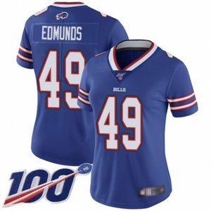 Women Bills Tremaine Edmunds 100th Season Jersey (